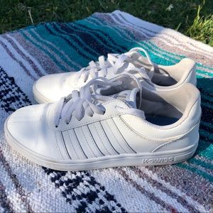 K-SWISS >> Court Style White Leather Low Tops